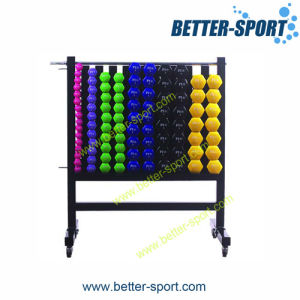 Vinyl Dumbbell Rack, 10 Columns Dumbbell Rack, Dumbbell Weights Exercise Fitness Gym Set with Rack pictures & photos