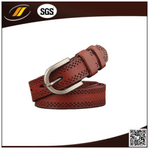 Fashion Top Layer Leather Belt with Pin Buckle