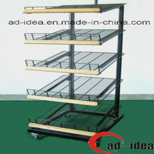 Literature Display Shelf with Wheels (MDR-021) pictures & photos