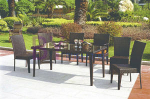 Simple Armrest and Armless Dining Room Outdoor PE Rattan Furniture pictures & photos