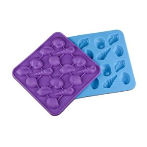 Random Color Silicone Ice Lattice Shells Ice Chocolate Biscuit Silicone Mold pictures & photos