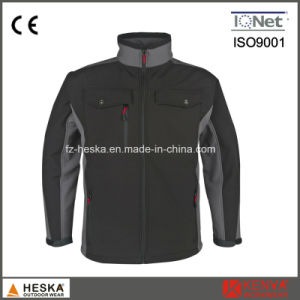Wholesale Waterproof Mens Woven Workwear Softshell Jacket pictures & photos