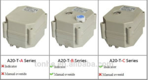 2 Way Dn20 Electric Motorized Motorised Stainless Steel Ball Shut off Valve (T20-S2-C) pictures & photos