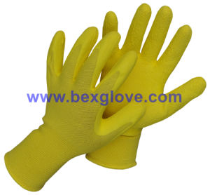 Garden Working Glove, 13 Guage Nylon Latex Coated, Foam Finish pictures & photos