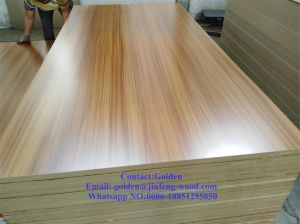 Marketable Wood Grain Melamine MDF for Furniture pictures & photos