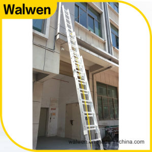 3 Section Multi-Purpose Telescopic Aluminum Ladder with En131 Approval pictures & photos