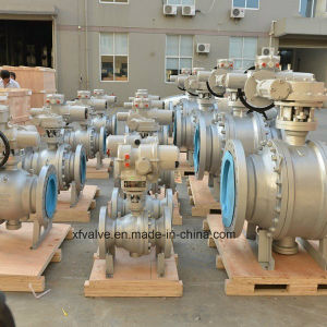 150lb 300lb 600lb Cast Steel Trunnion Mounted Flange Ball Valve pictures & photos