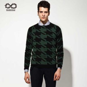 Acrylic Wool Fashion Clothing Jacquard Knit Pullover Man Sweater pictures & photos