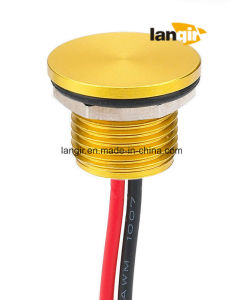 Langir 12mm Flat Head Aluminum Piezo Switch with Momentary (PZ-A12) pictures & photos