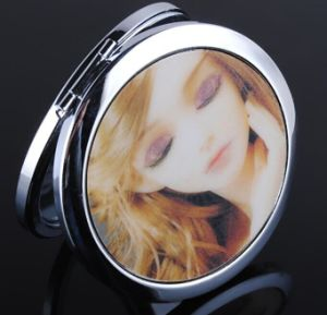 Round Epoxy Make up Mirror Pocket Mirror 7cm Diameter pictures & photos