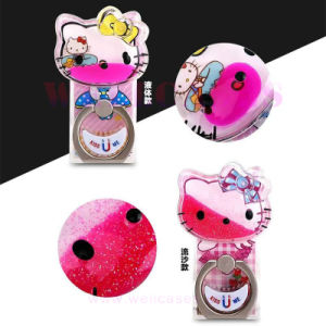 Fashion Mobile Phone Accessories Quicksand Kitty Cat Ring Holder pictures & photos