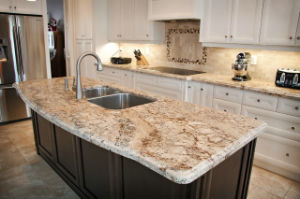 Matt Quartz Kitchen Countertop with Water Absorption 0.2% pictures & photos