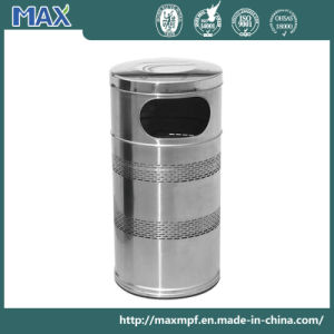Factory Wholesale Stainless Steel Round Waste Paper Baskets pictures & photos