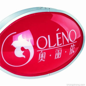 CE Acrylic Blister Aluminium Frame Oval Sign Light Box pictures & photos
