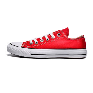 OEM or ODM Custom Design Rubber Outsole Vulcanized Canvas Shoe pictures & photos