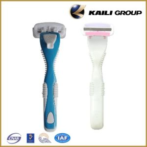Triple Blade Stainless Steel System Shaving Razor for Ladies pictures & photos