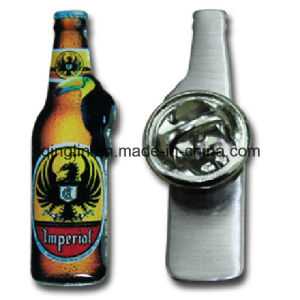 Customize Bottle Shape Full Color Printing Metal Badge/Lapel Pin (QL-Hz-0059) pictures & photos