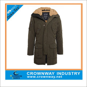 Casual Long Quilted Parka Jacket for Men pictures & photos