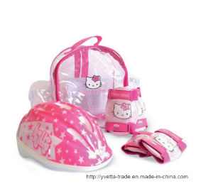 Kids Helmet with Elbow & Pad (YV -MV5-2 SET) pictures & photos