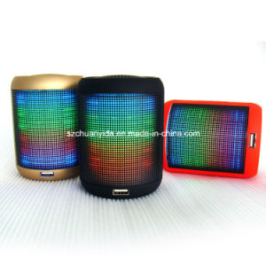 Mini Portable Bluetooth Wireless Speaker with LED Light FM and TF Card Function