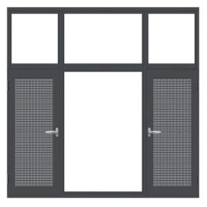 aluminum casement window with stainless steel mesh screen