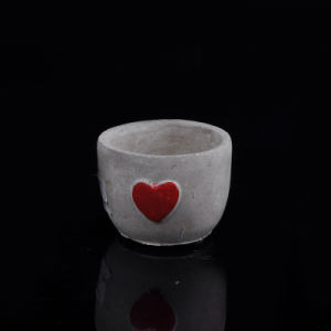 Concrete Heart Effect Candle Holder pictures & photos