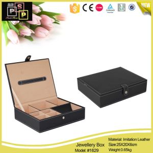 Black PU Leather Jewelry Box for Man and Women pictures & photos