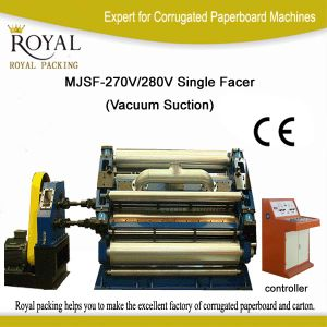 High Speed Corrugated Cardboard Single Facer Fingerless Mjsf-270/280V pictures & photos
