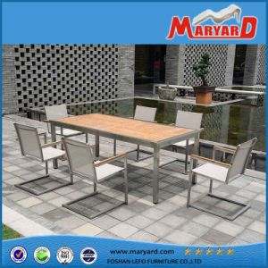 New Design Stainless Steel Dining Table Set for Outdoor Patio Terrace pictures & photos