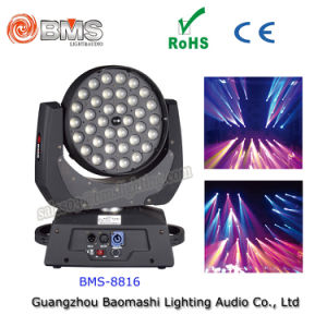 36PCS RGBW LED Moving Head Light with Zoom