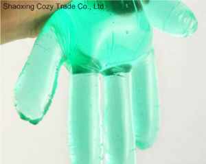 Green Transparent Waterproof Disposable PE Gloves pictures & photos