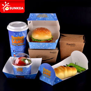 Printed Logo Paper Packaging Box Food pictures & photos