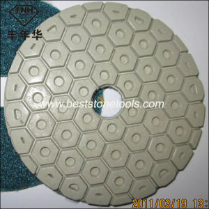 "Hook & Loop Flexible Resin Diamond Polishing Pad for Hand Grinder (4""/100mm)"
