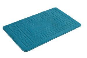 2 Pieces Blue Anti Slip Bath Mat Set