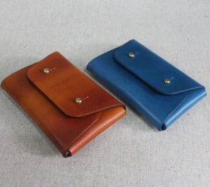 Vintage Genuine Leather Handmade Coin Pouch Coin Purse pictures & photos