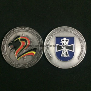 Custom Antique Silver Plate Challenge Coin pictures & photos