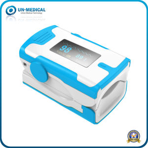 New-OLED Fingertip Pulse Oximeter with Hanging Cable (white blue) pictures & photos