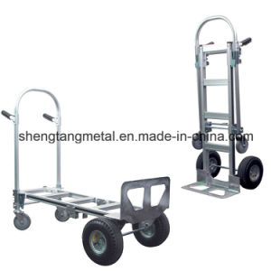 3 in 1 Aluminum Heavy Duty Hand Truck with Four Wheel pictures & photos
