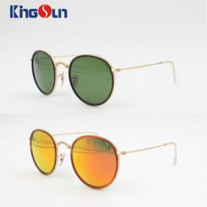 Plastic Rim Colorful Revo Lens Fashion Sunglasses with Round Shape & Wire Temple Ks1141 pictures & photos