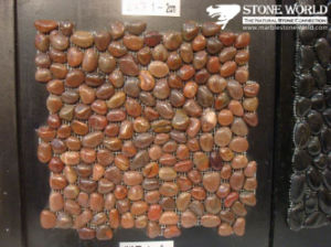 Landscaping Stone Natural Pebble Pebble on Mesh pictures & photos