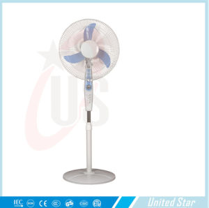 Hot Sellling 12V DC Stand Fan Rechargeable DC Fan Outdoor pictures & photos