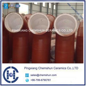 Wear Resistant Alumina Pipe Lining Tile/Ceramic Lined Pipe and Fitting pictures & photos