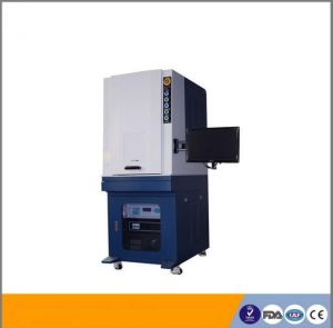 20W Fiber Laser Marking System with Laser Protection Cabinet/Automatic Laser Marking pictures & photos