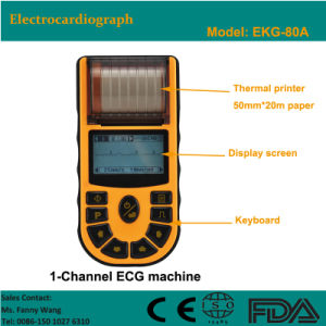 CE Approved Digital 1-Channel Handheld Electrocardiograph ECG (EKG-80A) -Fanny pictures & photos