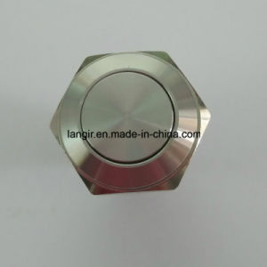 Hot Sale! ! ! 16mm Flat Head Momentary Stainless Steel Vandal Resistant Switch pictures & photos