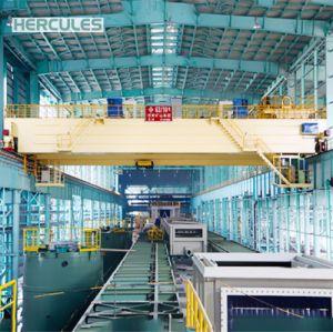 10~100t Workshop Double Beam Bridge Crane with Grab pictures & photos