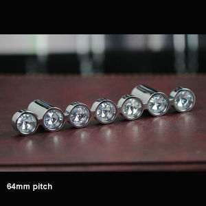 64mm Pitch Crystal Round Diamond Drawer Handle pictures & photos