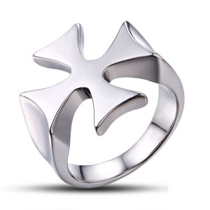 Jewelry Findings Medical Metal Jewelry Cross Ring pictures & photos
