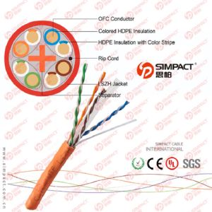 Ce, RoHS Approved CAT6 with LSZH Shealth pictures & photos