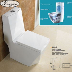 Hot Sales Washdown Ceramic One-Pices Toilet (2859) pictures & photos